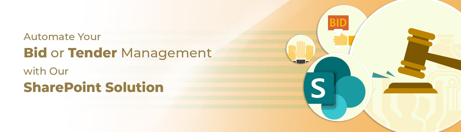 tender management or bid management solution