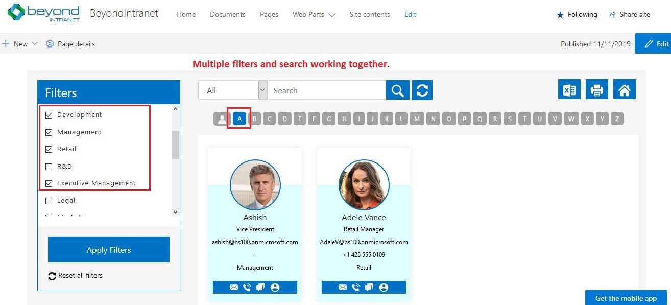 SharePoint Employee Directory