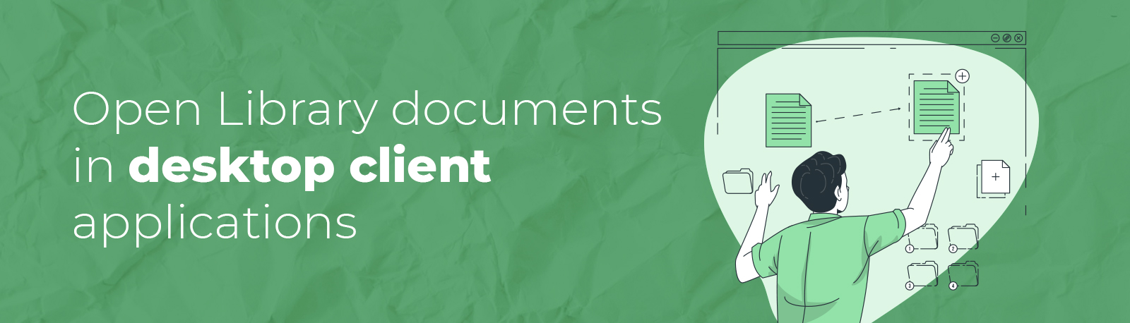 Open Library documents in desktop client applications