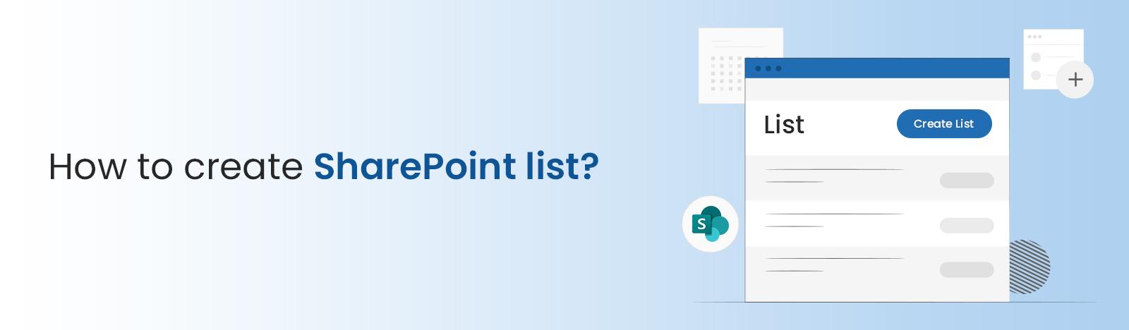 How to create SharePoint list?