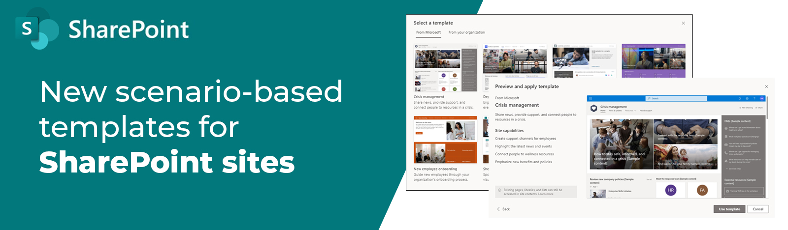 New scenario-based templates for SharePoint sites