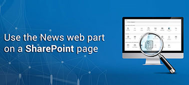 Use the News web part on a SharePoint page