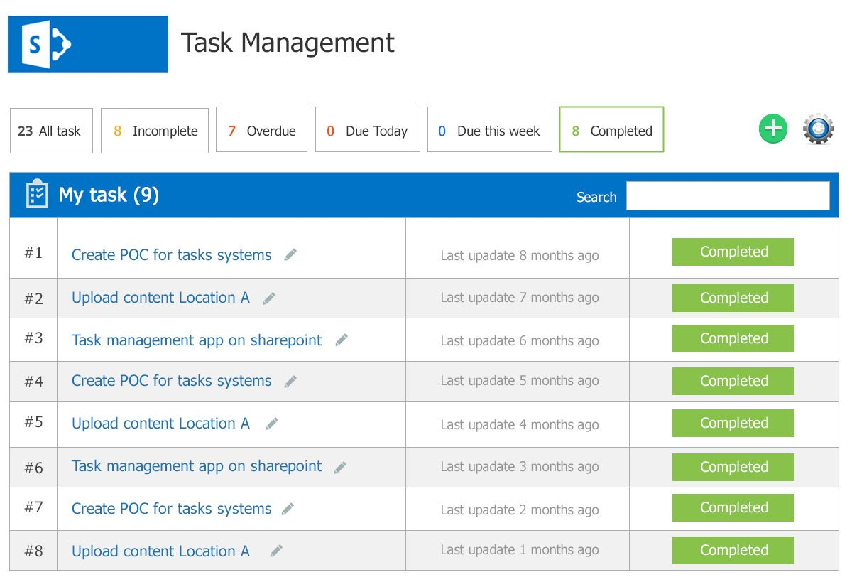 Easy to access SharePoint task list